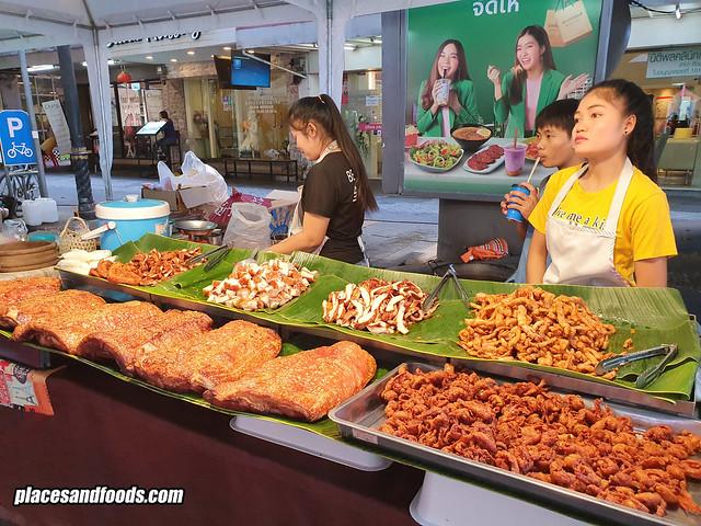 silom walking street pork food stall