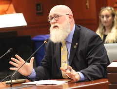 Rep. Buckbee testifies before the Transportation Committee.