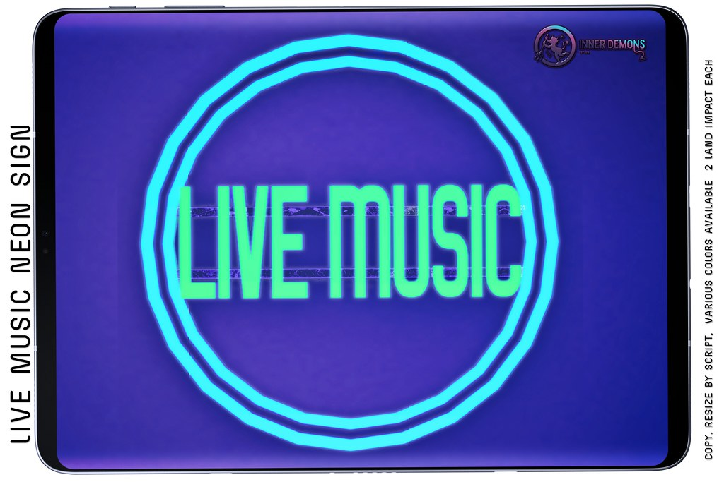 {ID} Live Music Neon Sign