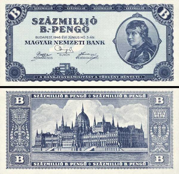 100 000 000 B.-Pengő Maďarsko 1946, P136