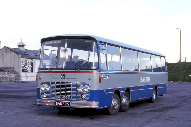 Bakers Coaches . Weston-Super-Mare , Somerset . CDK409C . Weston-Super-Mare . Monday . 17th-March-1980 .