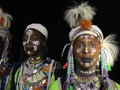 Tipos wodaabe en el fesival Gerewol. Al sur de Massenya. Chad