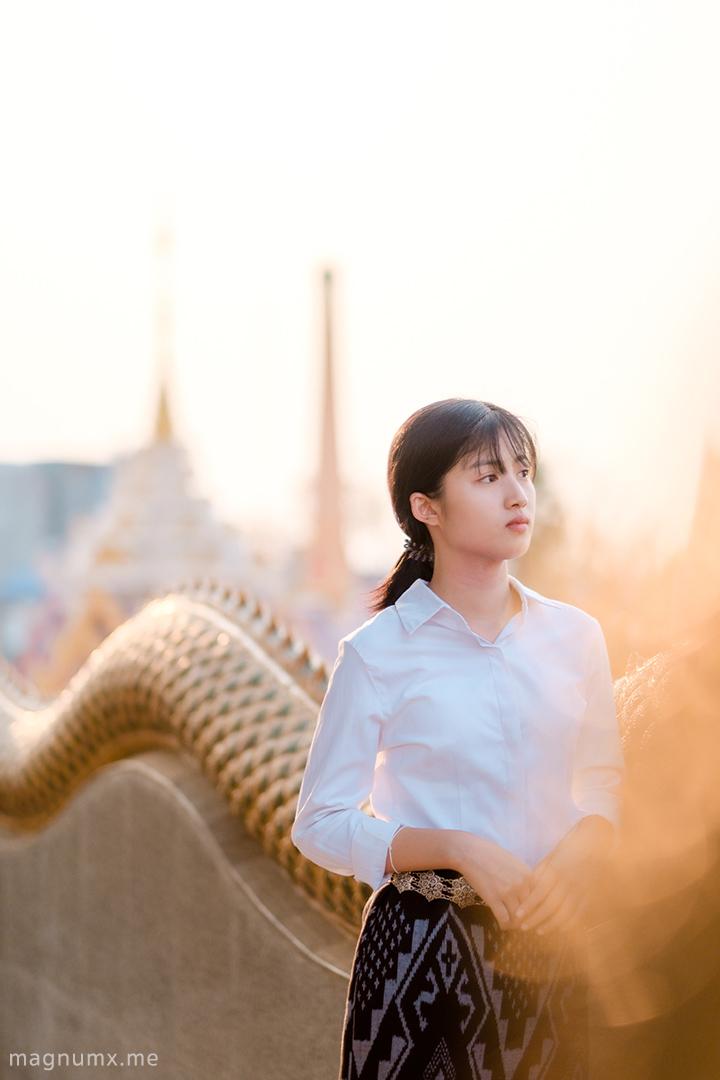 ภาพถ่ายวัดโพธิสมภรณ์ อุดรธานี แต่งด้วยโทนคลีนวัดไทย