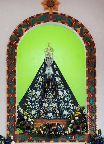 Virgen de Soledad, the patron saint of the fishing fleet of Puerto Escondido, Mexico