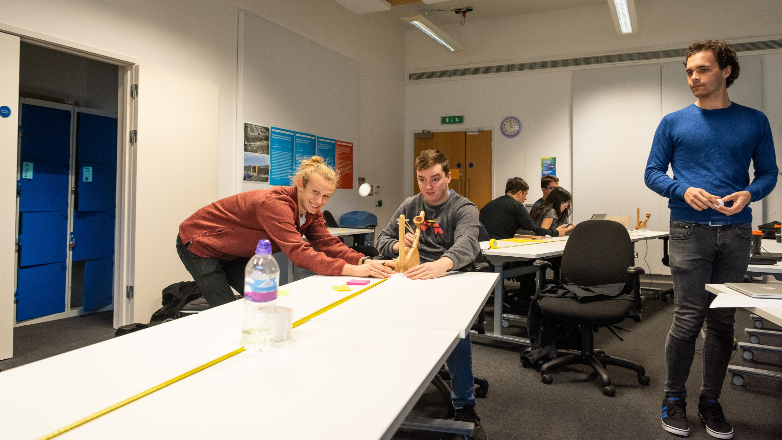 CDT Students explore catapult results and data analysis