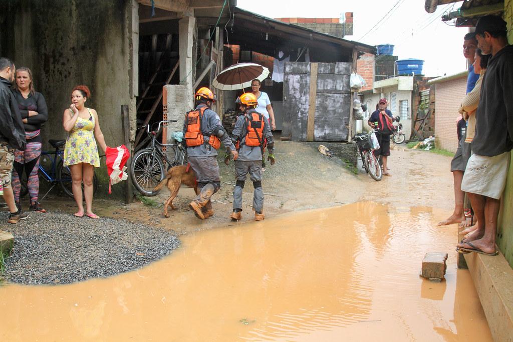 Áreas atingidas pela chuva na Baixada Santista