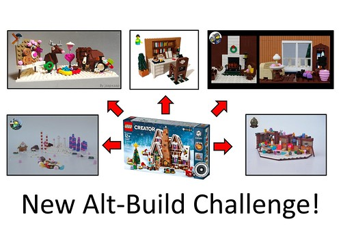 10267 Gingerbread House Alt-Build Challenge