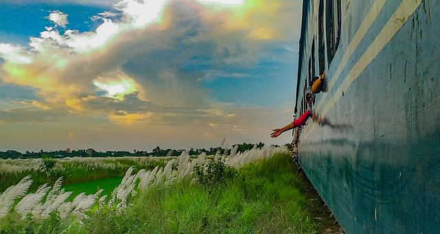 Shuttle Train, University of Chittagong, Bangladesh.