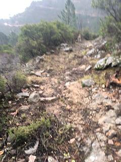 L'état du chemin après les travaux sur le tronçon amont de l'operata de la journée à la redescente