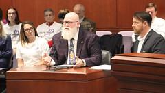 Rep. Buckbee testifies before the Insurance Committee.