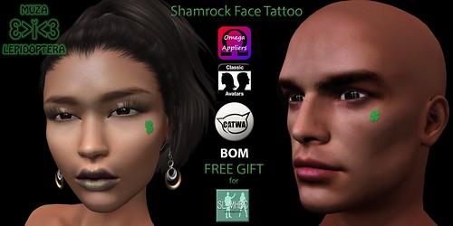 FREE GIFT - Shamrock face tattoo