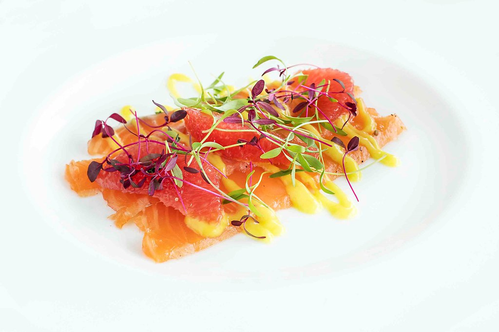 ROH salmon grapefruit mustard dressing