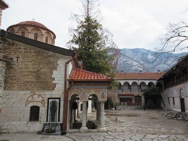 Courtyard, Bachkovo Monastery, Bulgaria