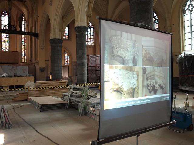 Een bezoek aan de restauratiewerkzaamheden van de Sint-Michielskerk te Bree