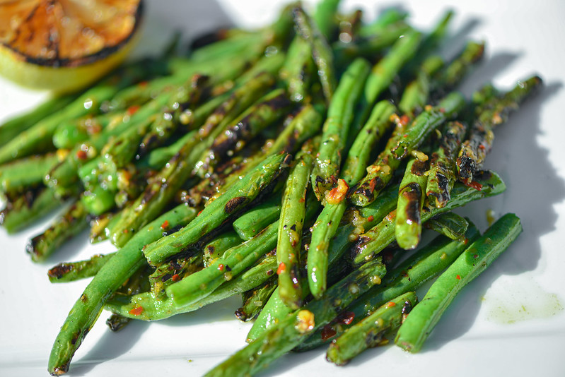 Grilled Green Beans with Chili, Garlic, and Lemon