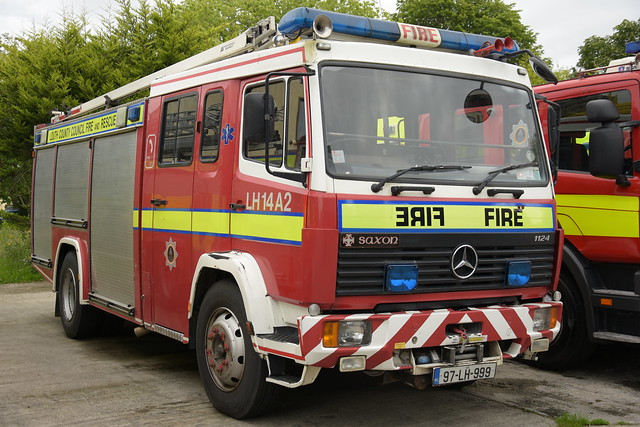Louth County Council Fire & Rescue 1997 Mercedes Benz 1124 Saxon WrL 97LH999 (Ex South Yorkshire R908 RHL) Retired