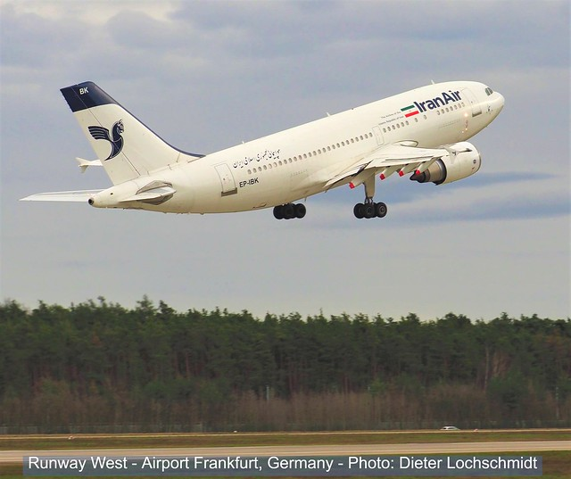IranAir Plane - Runway West at the Airport Frankfurt - March 2nd, 2020