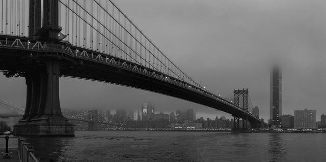 Evening Fog, NYC, 2020.