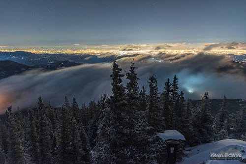colorado winter february nikond750 cold snow snowy squawmountain firelookouttower forest trees tamron2470mmf28 fog night sky stars starry space astronomy astrophotography denver city lights rime glow rockies rockymountains frontrange