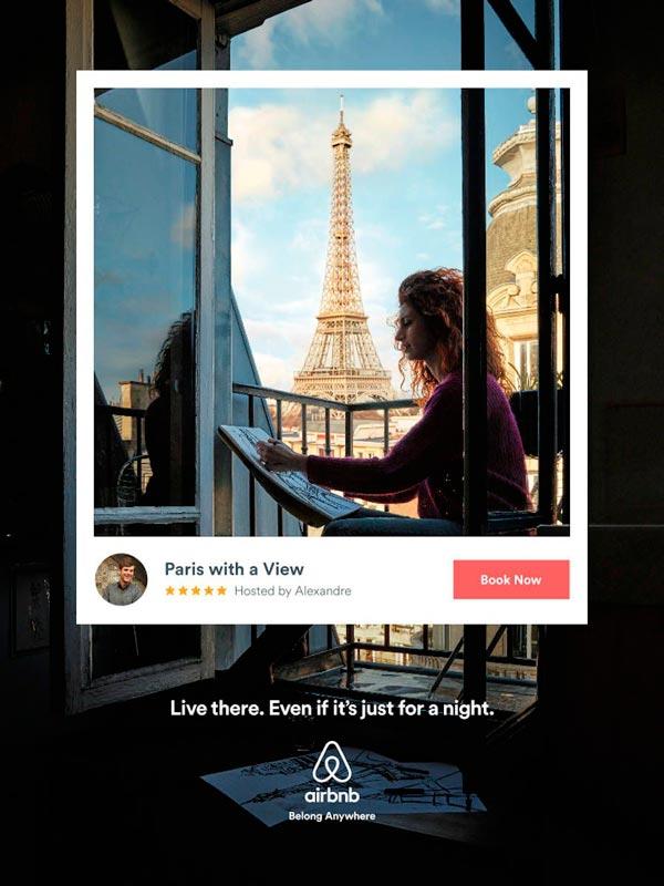 """La campaña """"Vivir allí"""" de Airbnb habla de lo que Airbnb es conocido por sus hogares lejos del hogar."""