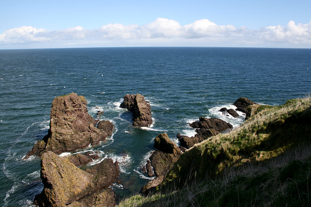 The coast from Dunnottar Castle