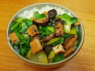 Braised Baby Bok Choy and Shiitake Mushrooms