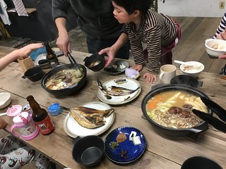 Dinner was mushroom hot pot