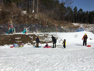 Sledding at Norn Ski resort