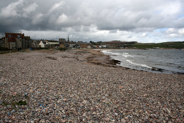 The beach at Stonehaven