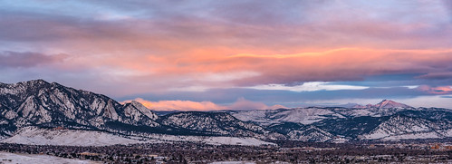 boulder bouldercounty boulderopenspace bouldervalley colorado coloradorockies flatirons frontrange landscape nationalpark rockymountains southernrockies usnationalpark winter clouds dawn highcountry highelevation morning morninglight mountains panorama snow snowscape sunrise wintersunrise