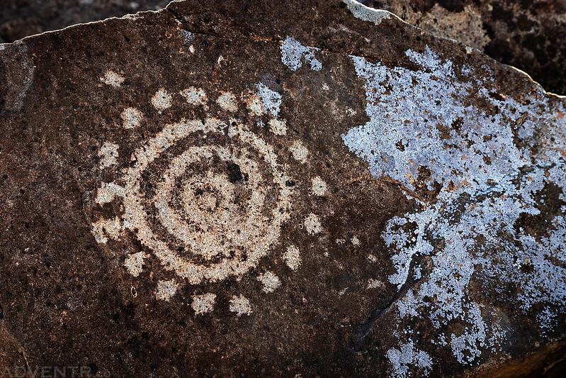 Petroglyph & Lichen