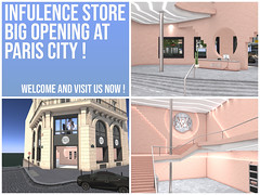 "Please welcome ""INFLUENCE STORE"" AT PARIS CITY"