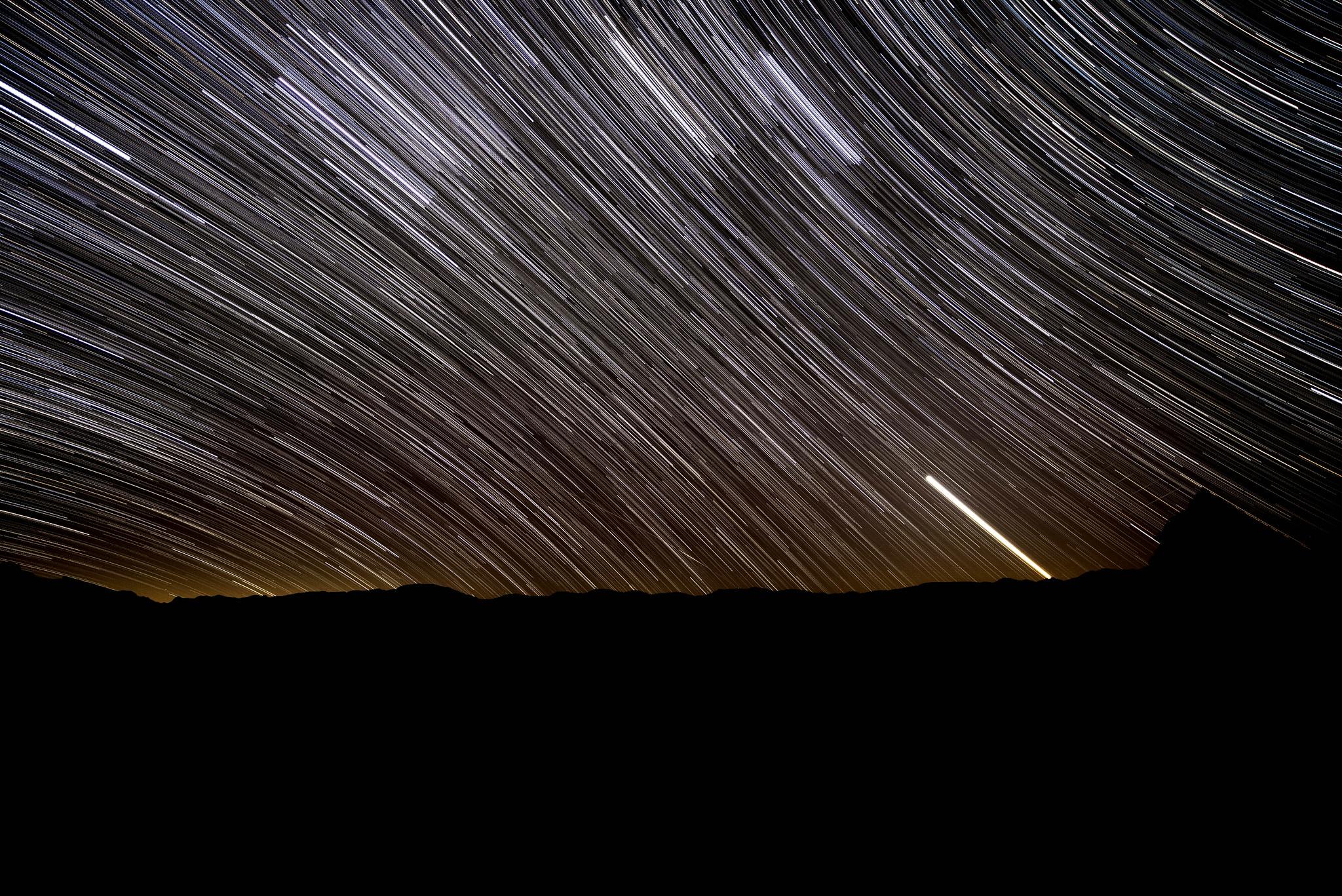Death Valley - Star Trails at Zabriskie_1