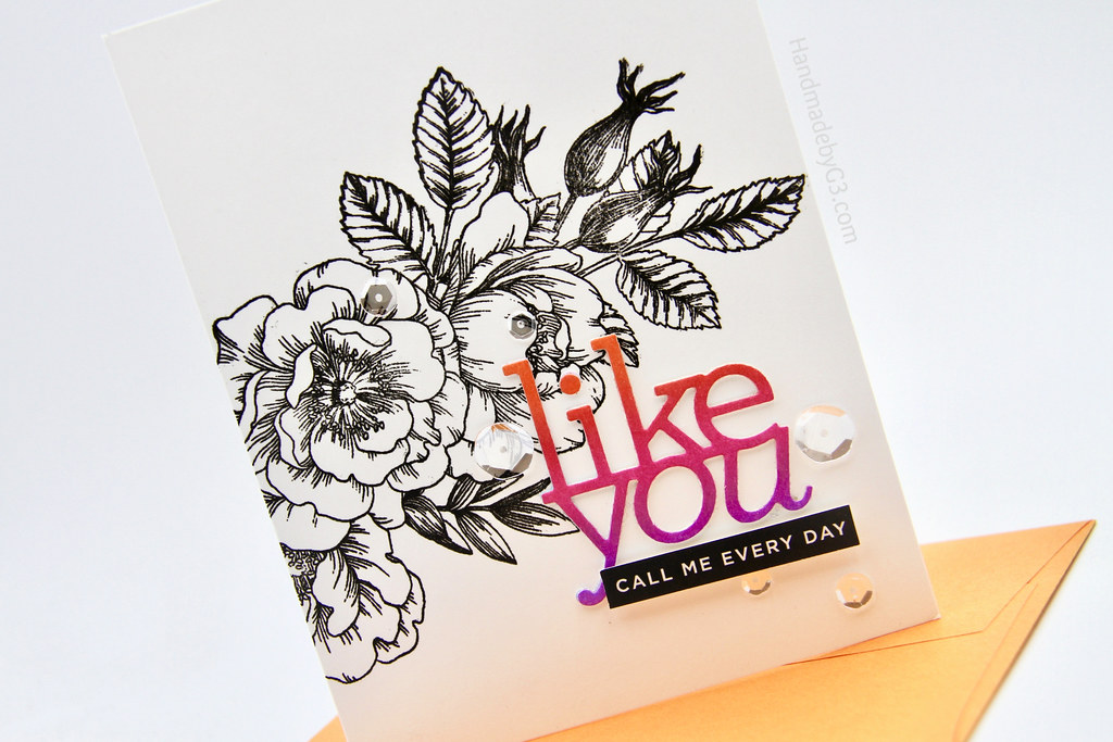Like you card #2 closeup