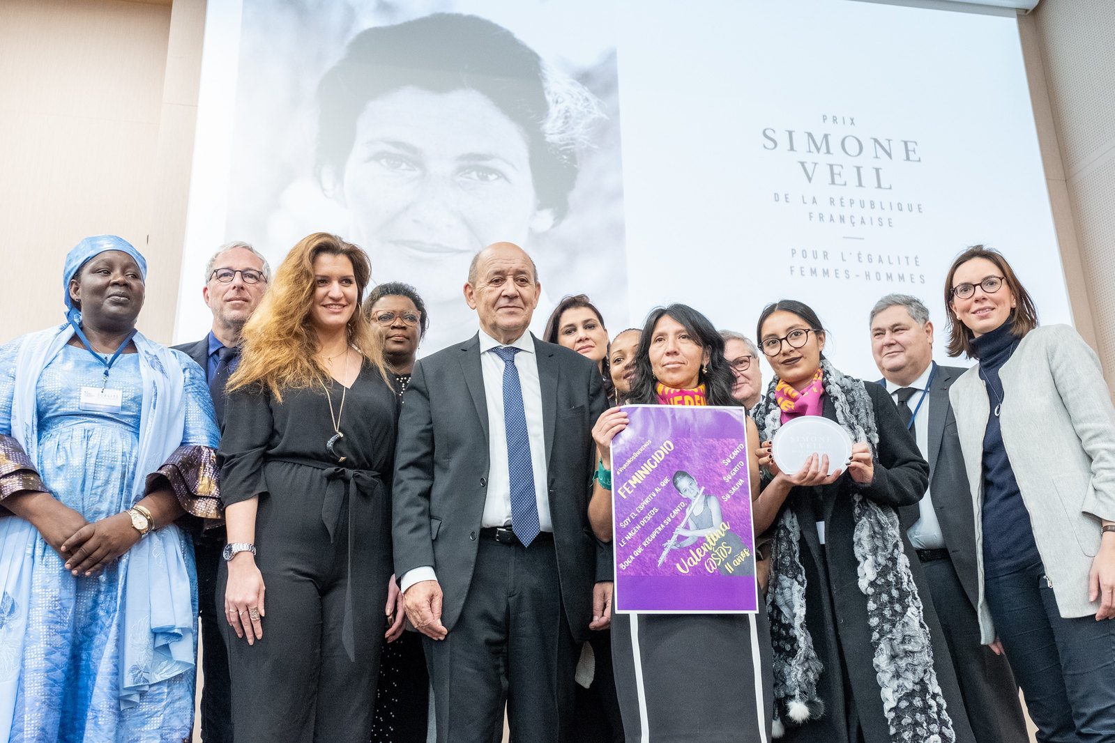 Remise du prix Simone Veil de la République française