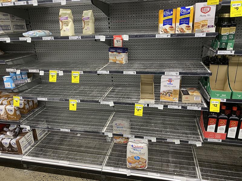 Panic buy: flour