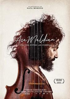 """Cartel del documental """"Ara Malikian: una vida entre las cuerdas"""""""