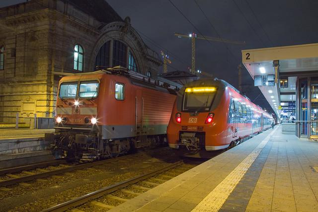 DB Regio 143 855 + 442 735 Nürnberg Hbf