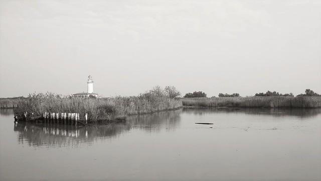Po river delta.