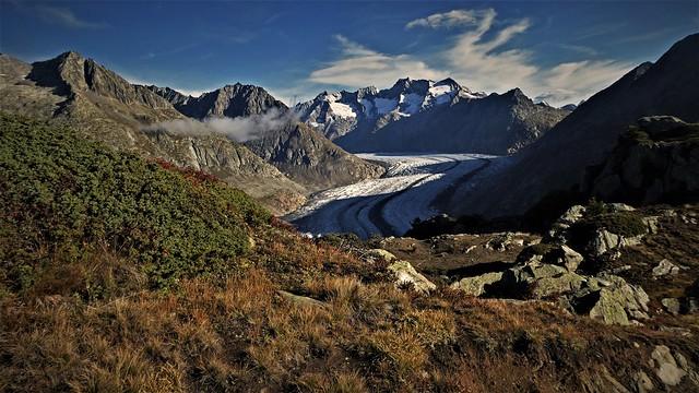 The Aletsch Glacier and Grosses Wannenhorn, 3906m/12,815', Bernese Alps, Switzerland.