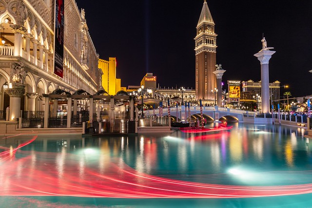Las Vegas Venetian Gondola Light Trails