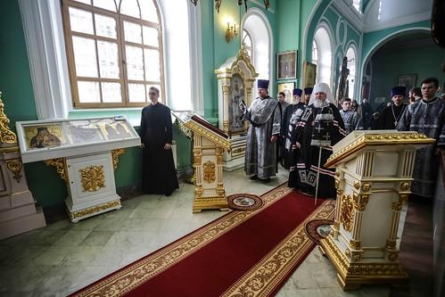 04 марта 2020, Митрополит Кирилл совершил первую в этом году Литургию Преждеосвященных Даров в Андреевском соборе