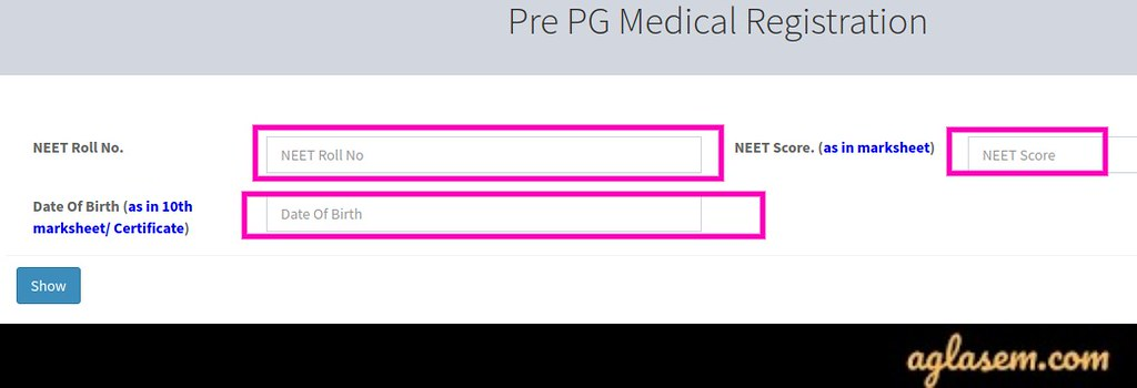 CG PG Medical Application Form