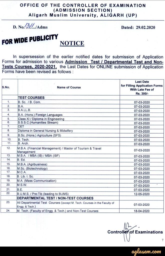 AMU Law Entrance Exam 2020 (Postponed!) - Form, Syllabus, Exam Pattern