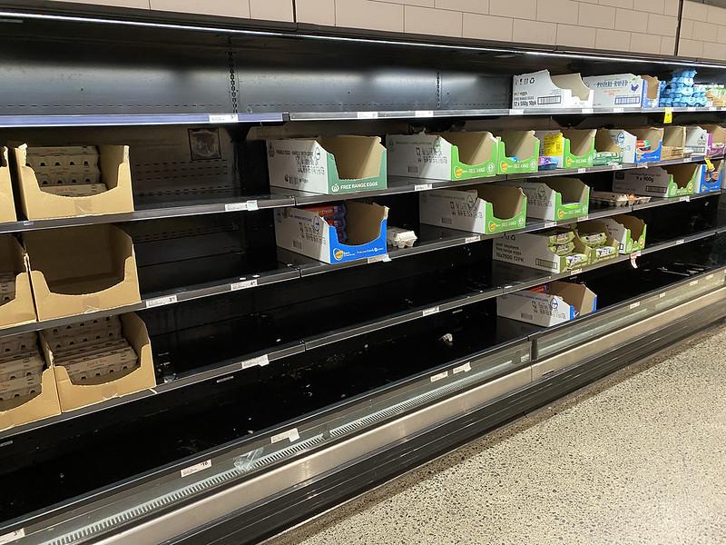 Panic buy: eggs