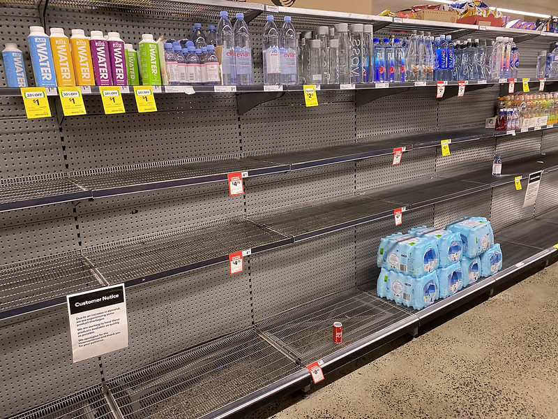 Panic buy: bottled water