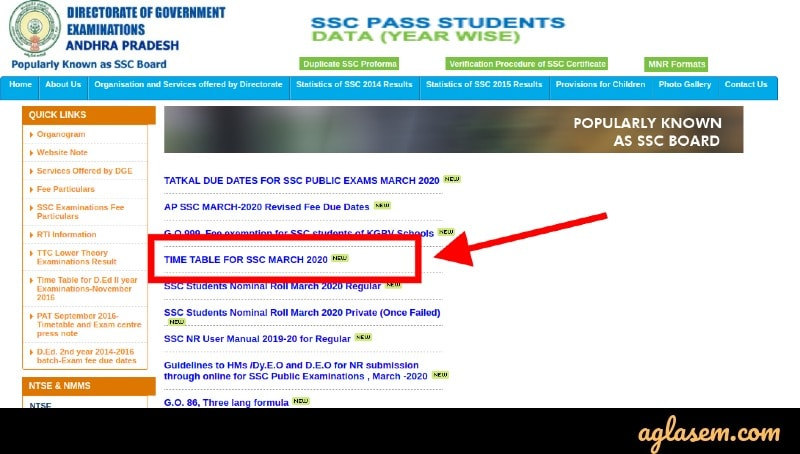 AP 10th Time Table 2020 (Available) - Check New AP SSC Time Table 2020 Here