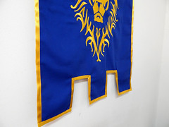 World of Warcraft alliance banner