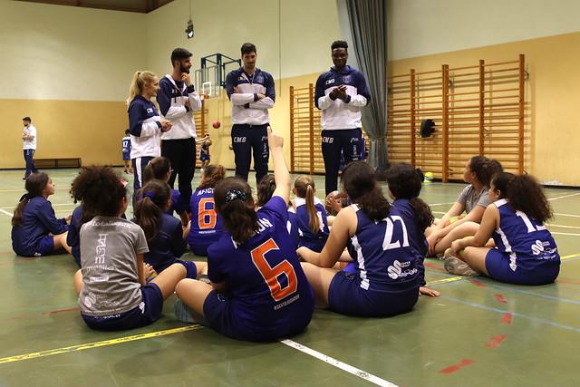 #CANTERACMB | Agada y Uclés visitan al Minibasket femenino