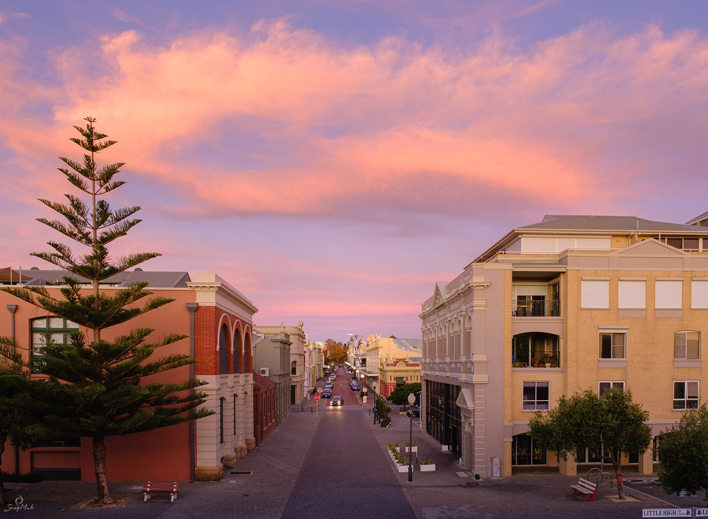 View down High Street in Fremantle